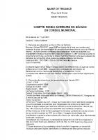 Conseil Municipal du 11 juin 2021 (compte-rendu)
